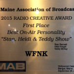 Frank FM Morning Show Wins Maine Association of Broadcasters Award